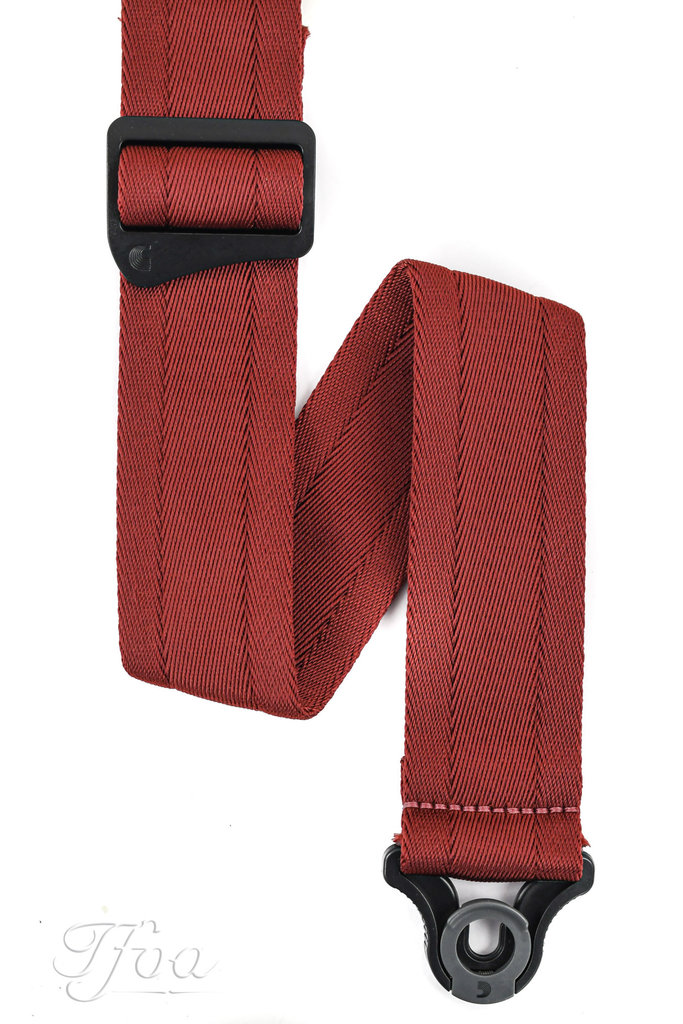 D'Addario Auto Lock Guitar Strap Blood Red