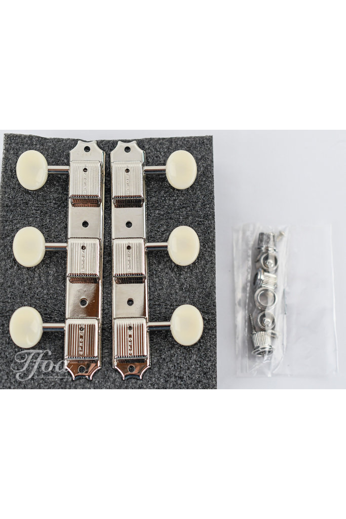 Kluson  Deluxe Three on a Plate Tuners KD-3P-NP
