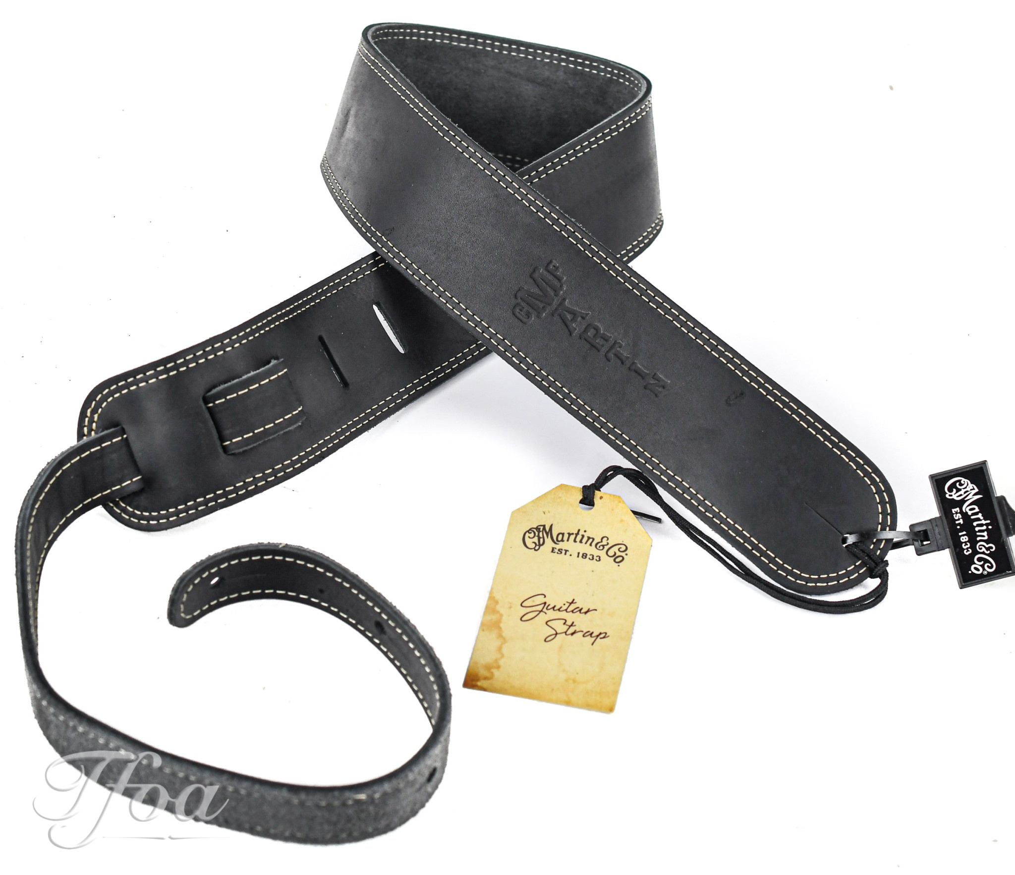 Martin Strap 18A0013 Suede Doubled Black