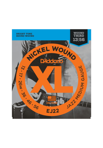 D'Addario D'Addario EJ22 Nickel Woud Jazz Medium 13-56