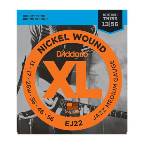 D'Addario D'Addario EJ22 Nickel Woud Jazz Medium 13-56
