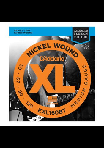 D'Addario D'Addario EXL160BT Nickel Wound Balanced Tension 50-120 Long Scale
