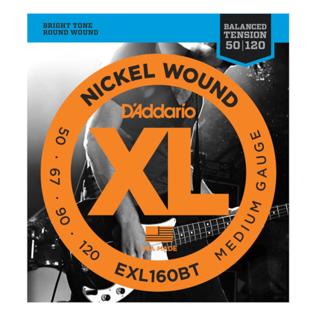 D'Addario EXL160BT Nickel Wound Balanced Tension 50-120 Long Scale