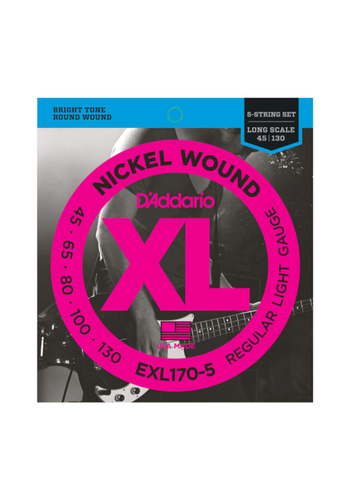D'Addario D'Addario EXL170-5 Nickel Wound 5 String Light 45-130