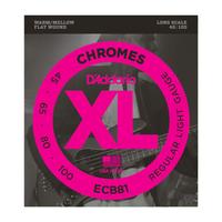 D'Addario ECB81 Chrome 45-100 Bass Strings Flatwound