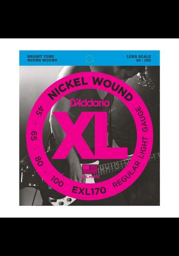 D'Addario D'Addario EXL170 45-100 Nickel Wound Bass Strings