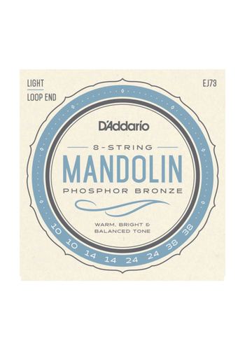 D'Addario D'Addario EJ73 Light Phosphor Bronze Mandolin 10-38