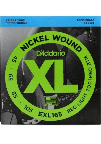 D'Addario D'Addario EXL165 4-String Light Top Med Btm Long Scale 45-105