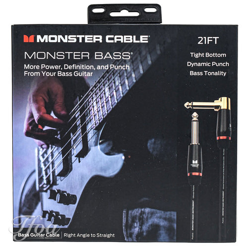 Monster Cable Monster Cable Bass 21 Angled-Straight 6.4m Instrument Cable