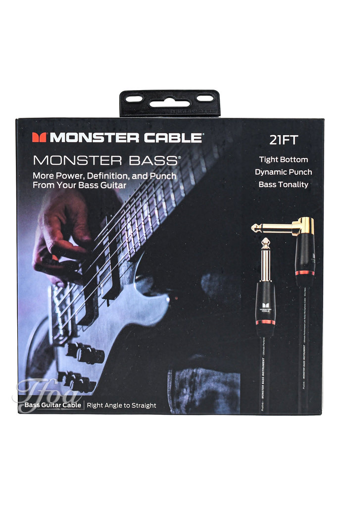 Monster Cable Bass 21 Angled-Straight 6.4m Instrument Cable