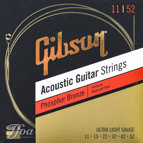 Gibson Gibson Acoustic Guitar Strings Phosphor Bronze .11 - .52
