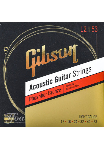 Gibson Gibson Acoustic Guitar Strings Phosphor Bronze .12 - .53