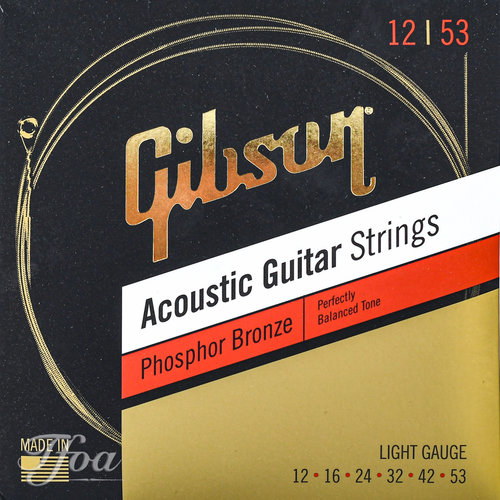 Gibson Gibson Acoustic Guitar Strings Phosphor Bronze .12 - .53