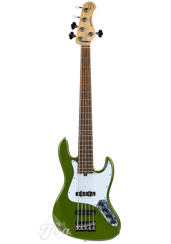 Sadowsky Sadowsky MetroExpress Vintage J/J Bass 5 String Morado Solid Sage Green Metallic