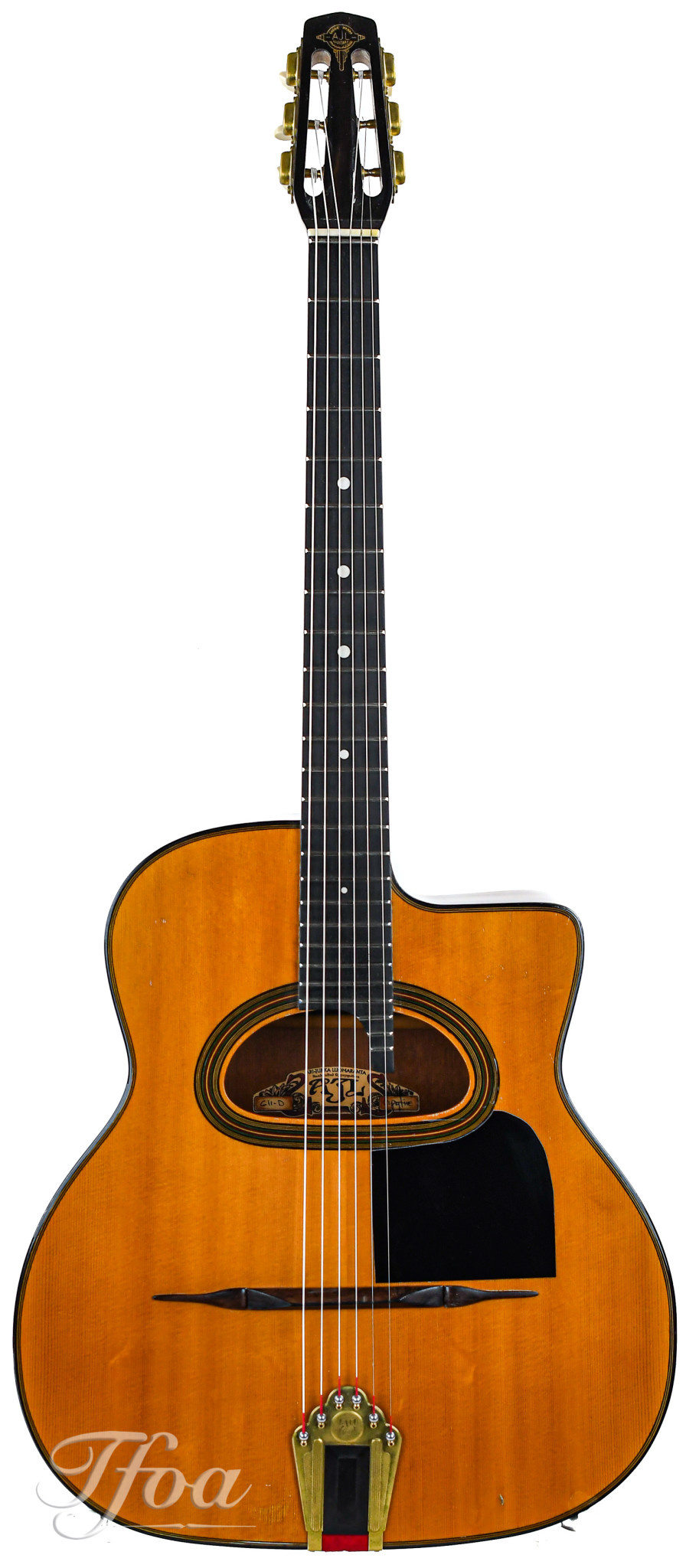 AJL Gypsy Fire Figured Rosewood Maccaferri Style 2011