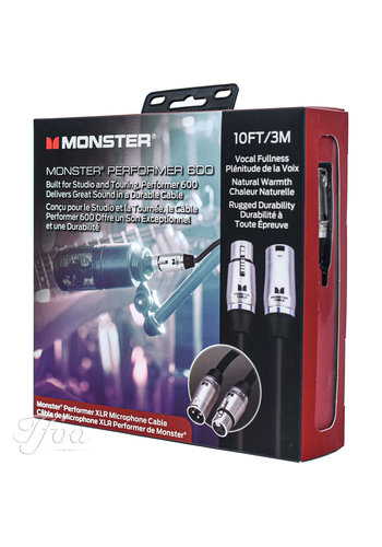 Monster Cable Monster Cable Performer 600  XLR 10FT/3M Microphone Cable
