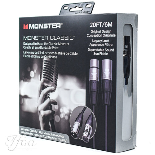 Monster Cable Monster Cable Classic XLR 20FT/6m Microphone Cable
