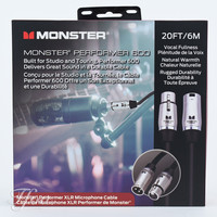 Monster Cable Performer 600 XLR 20FT/6M Microphone Cable