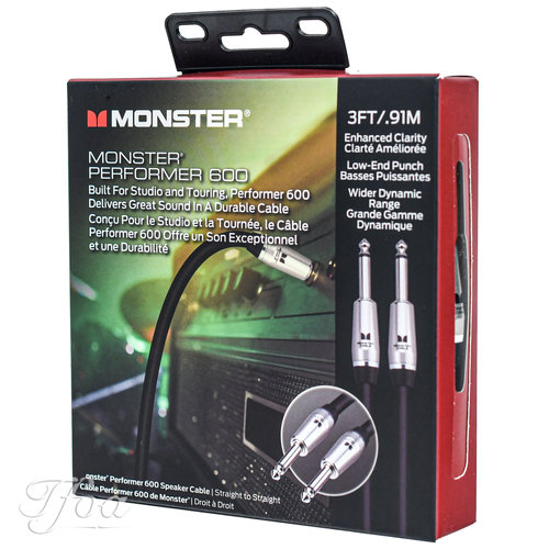 Monster Cable Monster Cable Performer 600 Speaker Cable 3FT/0.9M