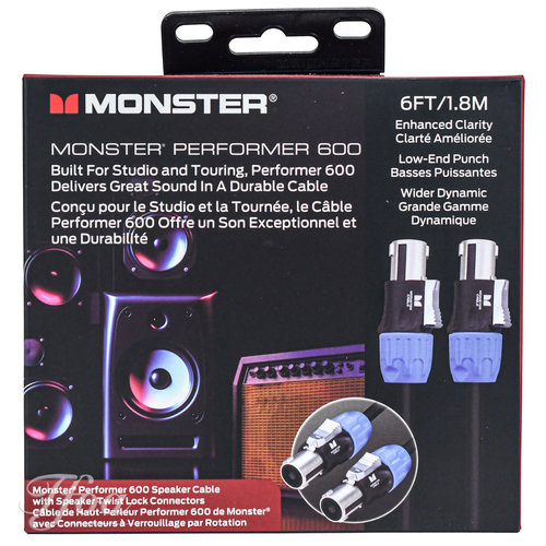 Monster Cable Monster Cable Performer 600 Speaker Cable Speak-On 6FT/1.8M