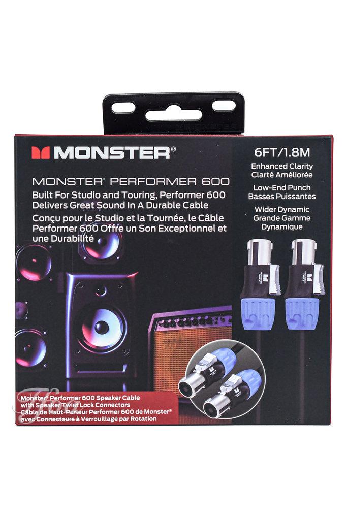 Monster Cable Performer 600 Speaker Cable Speak-On 6FT/1.8M