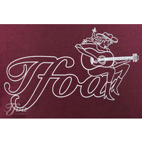 TFOA T-Shirt Cowgirl Washed Burgundy