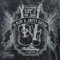 TFOA T-Shirt 'Life's Too Short' Whiskey Label Acid Black