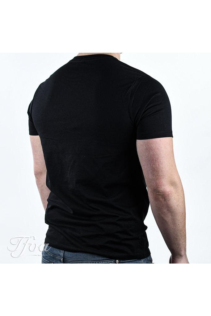 TFOA T-Shirt 'Life's Too Short' Whiskey Label Black