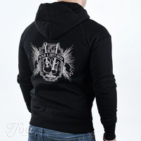 TFOA Zipped Hoodie 'Life's Too Short' Whiskey Label Black