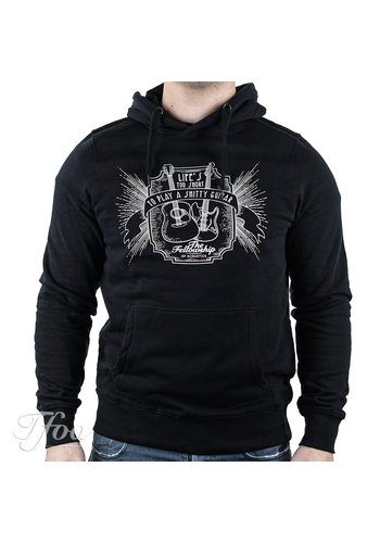 TFOA TFOA Hoodie 'Life's Too Short' Whiskey Label Black