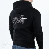 TFOA Zipped Hoodie Cowgirl Black