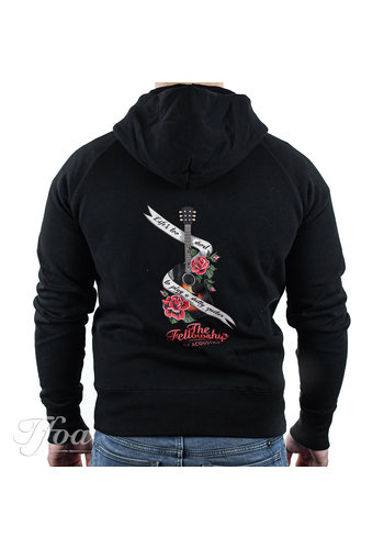 TFOA TFOA Zipped Hoodie 'Life's Too Short' Banner N' Roses Black