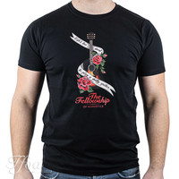 TFOA T-Shirt 'Life's Too Short' Banner N' Roses Black