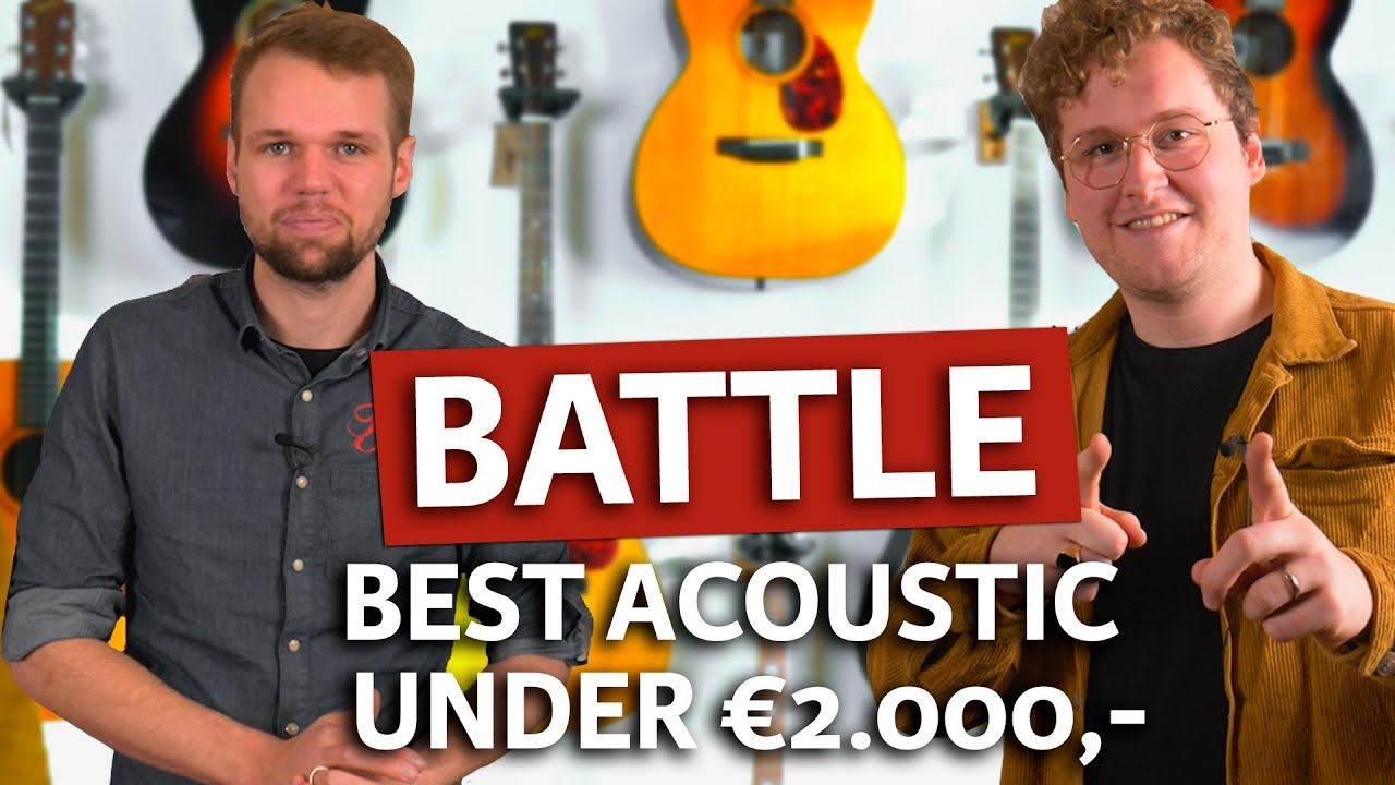The best acoustic guitars under 2000 euros