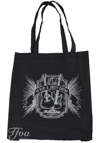 TFOA TFOA Tote Bag 'Life's Too Short' Whiskey Label