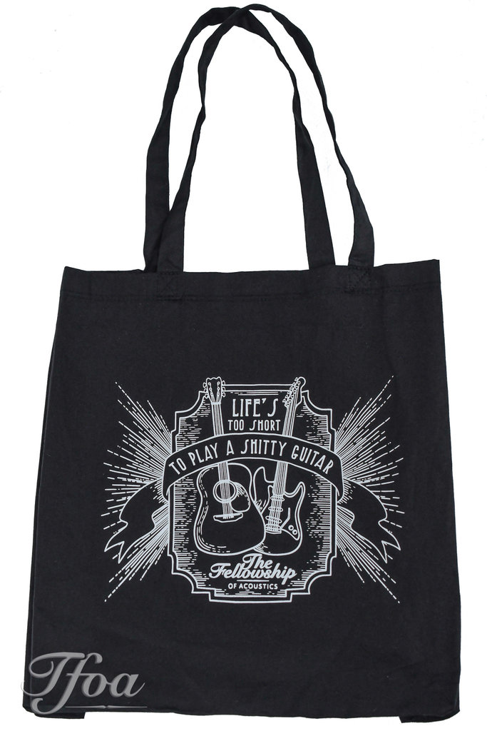TFOA Tote Bag 'Life's Too Short' Whiskey Label