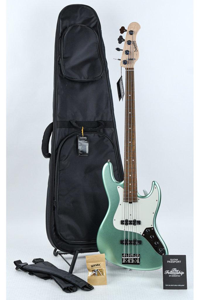 Sadowsky MetroLine Vintage J/J Bass Solid Sage Green Metallic Satin