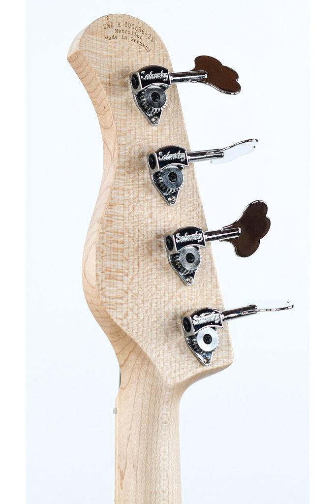 Sadowsky MetroLine 21 Fret Hybrid P/J Bass Solid Black Satin