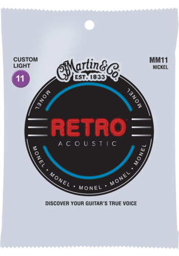 Martin Strings Martin MM11 Monel Retro Custom Light 11-52