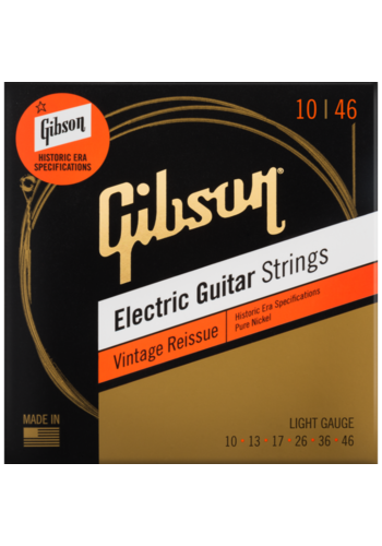Gibson Gibson Vintage Reissue Electric Guitar Strings Pure Nickel 10-46