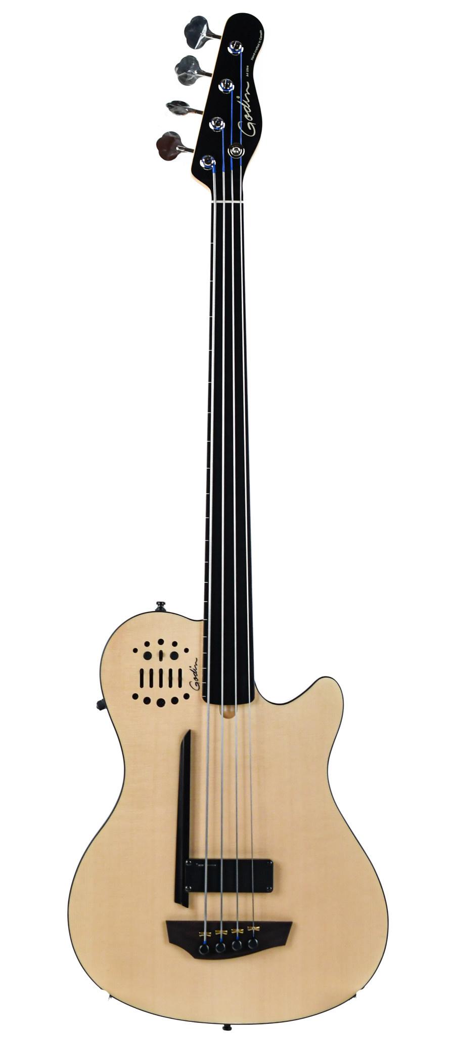 Godin A4 Ultra SA Fretless Bass Natural SG