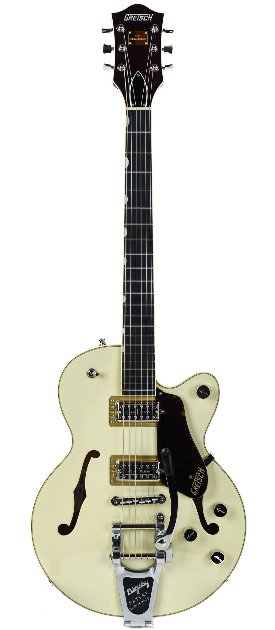 G6659T Players Edition Broadkaster Jr. Two Tone Lotus Ivory/Walnut Stain