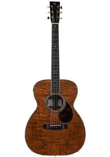 Rozawood Rozawood Wizard OM 42 Style Flame Redwood Indian Rosewood #200617