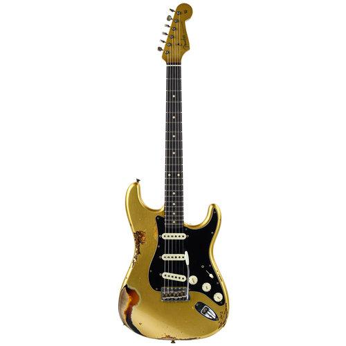 Fender Custom Fender Custom LTD Dual MAG II Strat Aztec  Gold/3 Tone Sunburst Relic
