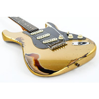 Fender Custom LTD Dual MAG II Strat Aztec  Gold/3 Tone Sunburst Relic
