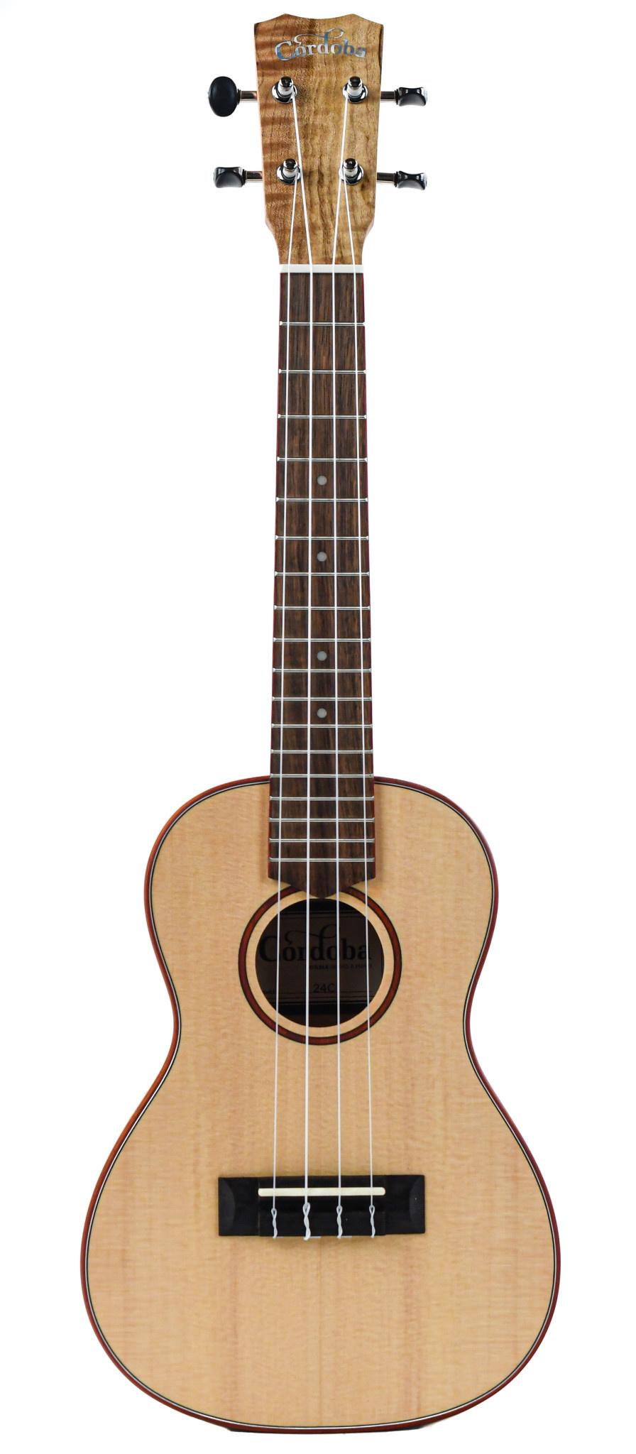 Cordoba 24C Concert Spalted Maple Spruce Ukulele