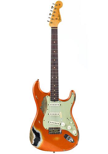 Fender Custom Fender Custom Shop 60 Stratocaster Heavy Relic Candy Tangerine/Black