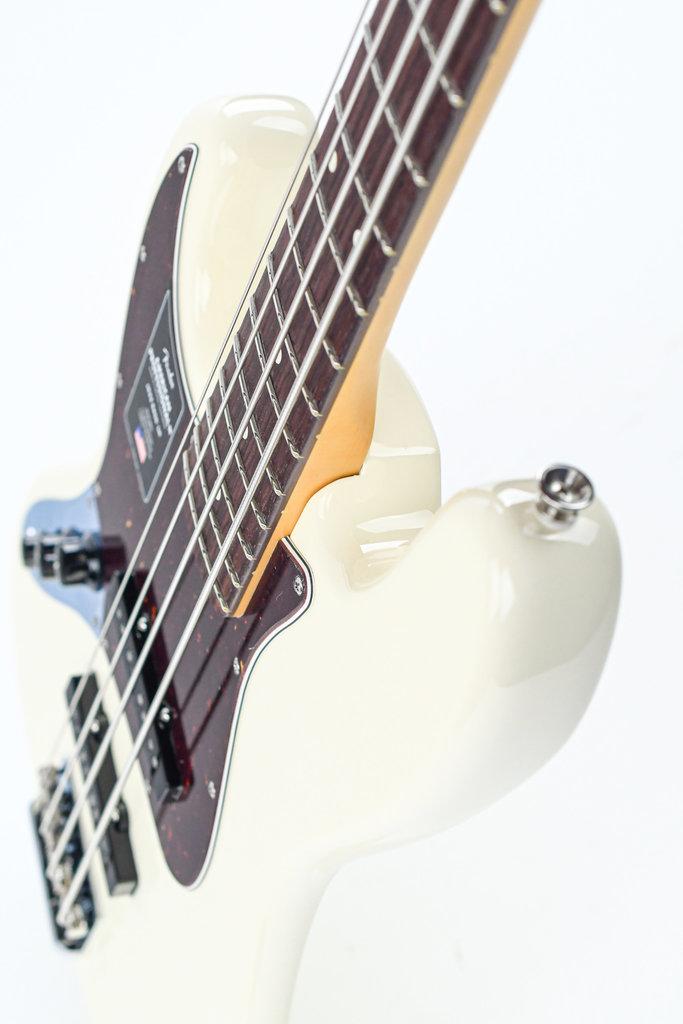 Fender American Pro II Jazz Bass Olympic White RW Lefty