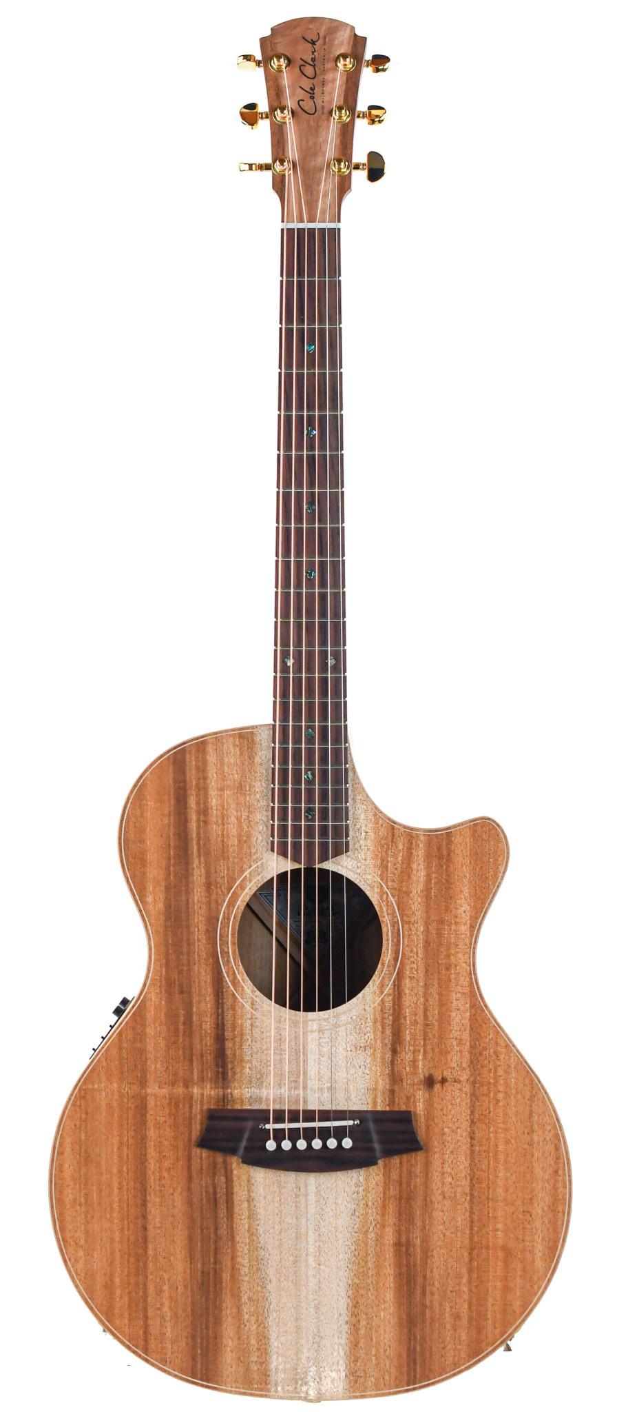 Cole Clark AN2EC BLBLR Blackwood Rosewood Fretboard