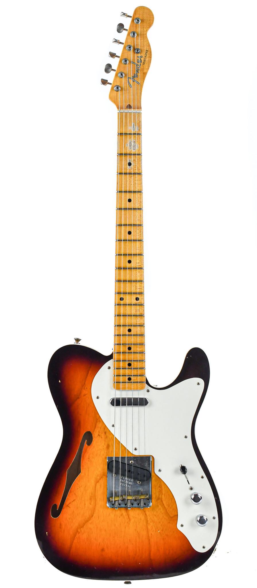 Fender 50s Thinline Telecaster Journeyman Relic 3 Tone Sunburst 2019